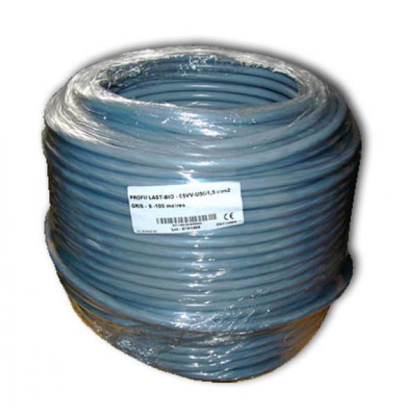 Cable blindé rigide 5x1.5 mm2 -100 m