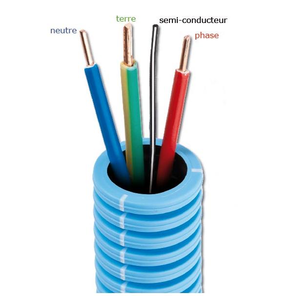 Gaine blind e 20mm pr fil 3x2 5 prefil 39 zen cables - Gaine exterieure pour cable electrique ...