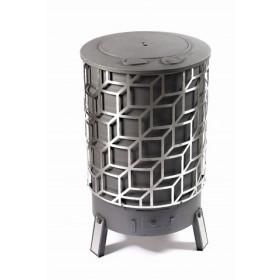 Poêle à bois D'HOME Cube à partir de 10kW DEOM TURBO