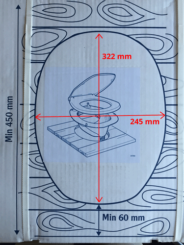 gabarit toilette seche Privy 501