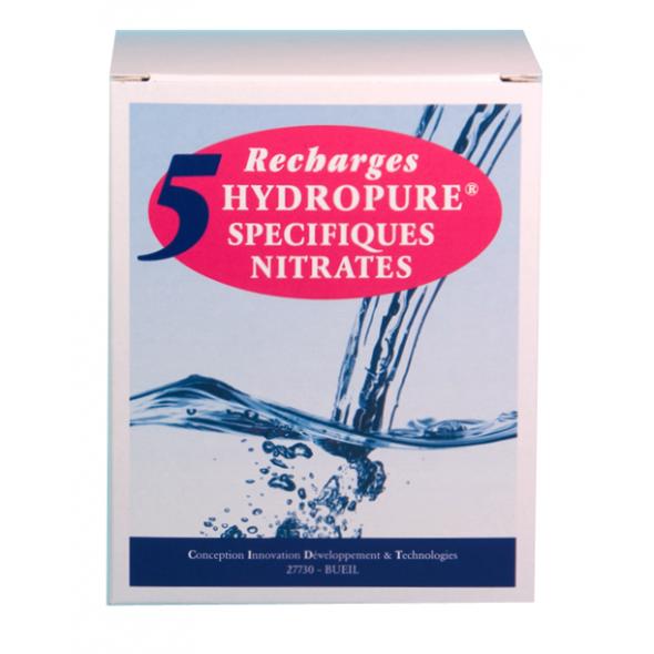 Recharges spécifiques nitrates cartouche ronde ou ovale 125ml lot de 5 HYDROPURE