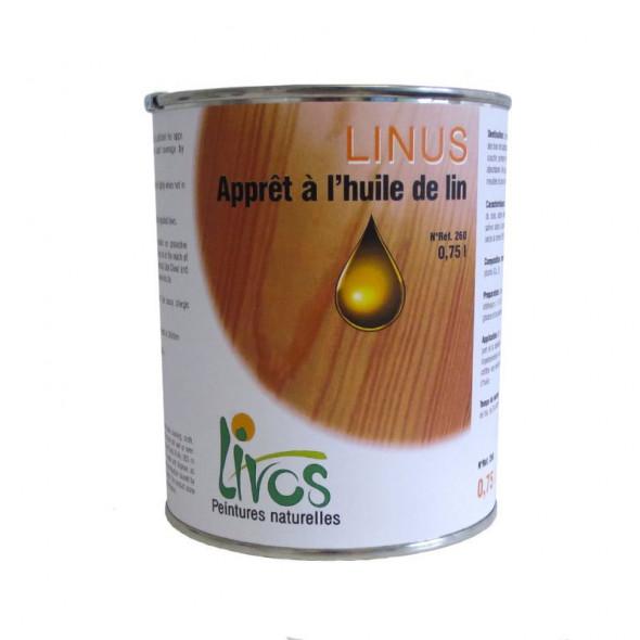 Sous-couche bois naturelle chêne int/ext Linus 233 Livos (2,5L/40m2)