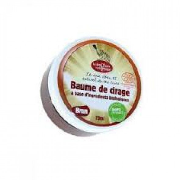 Cirage écologique en baume brun  75ml
