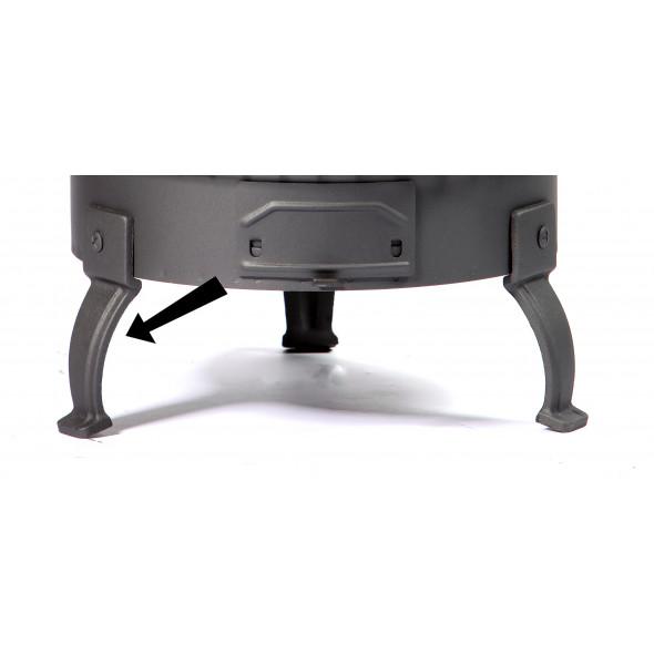 pied en fonte pour p ele bois deom turbo accessoires po le bois deom turbo chauffage. Black Bedroom Furniture Sets. Home Design Ideas