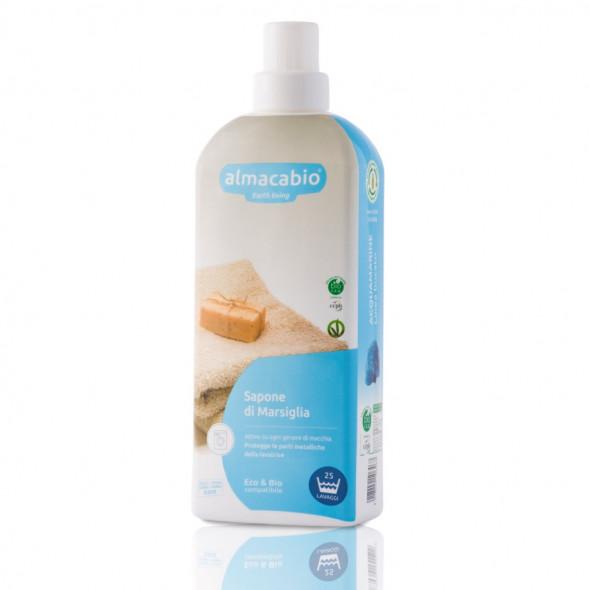 Lessive bio liquide au savon de Marseille 1L ALMACABIO