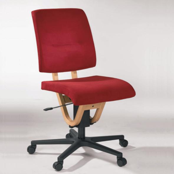 Si ge bureau tissu sans accoudoirs et roulettes moizi21 for Fauteuil bureau sans roulettes