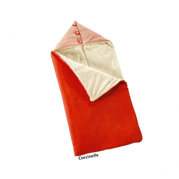 Nid d'ange coccinelle 1er Age  40x90cm coton label EKO