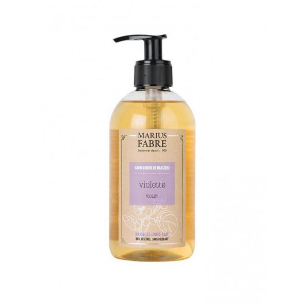 Savon de Marseille écologique liquide à l'huile d'olive parfum violette 400ml MARIUS FABRE