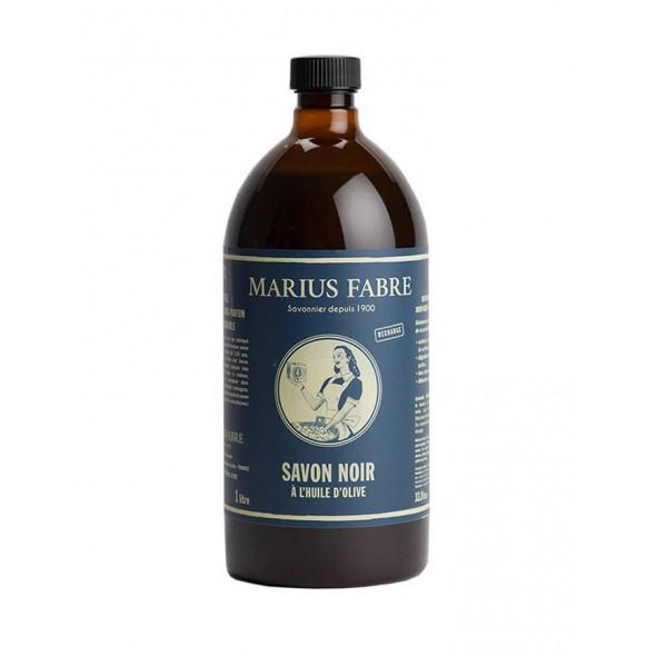 Savon noir écologique liquide à l'huile d'olive 1L MARIUS FABRE