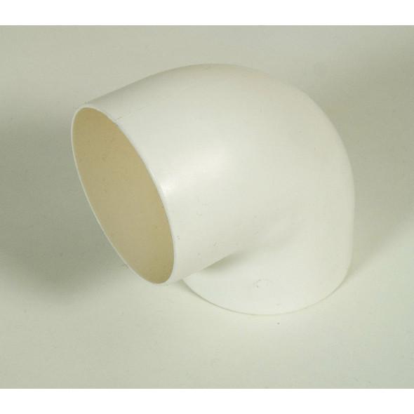 Coude 90° blanc toilette sèche (femelle/femelle) diamètre 75mm