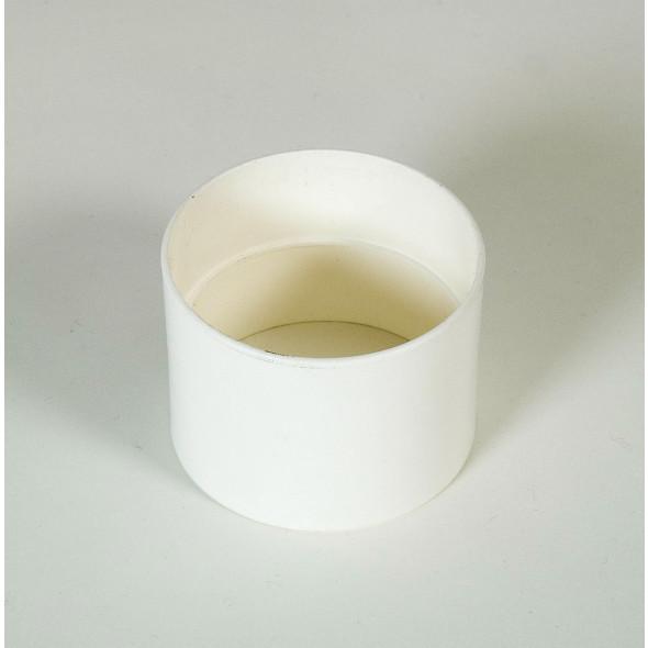 Manchon blanc toilette sèche (femelle/femelle) diamètre 75mm