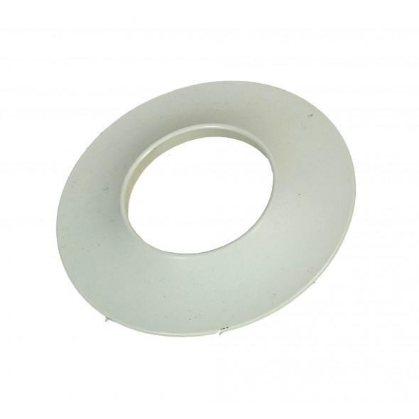 Rosace blanche toilette sèche diamètre 75mm