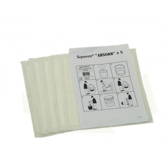 5 Tissus absorbant toilette sèche Separett
