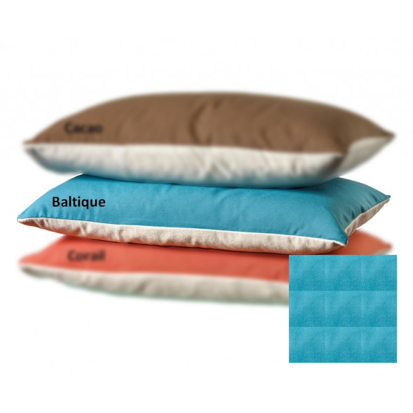Taie d'oreiller coton BIO Bleu baltique