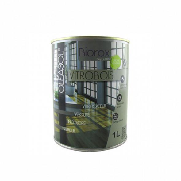 Vitrificateur incolore pour bois aspect velouté Biorox (1L/10m2)