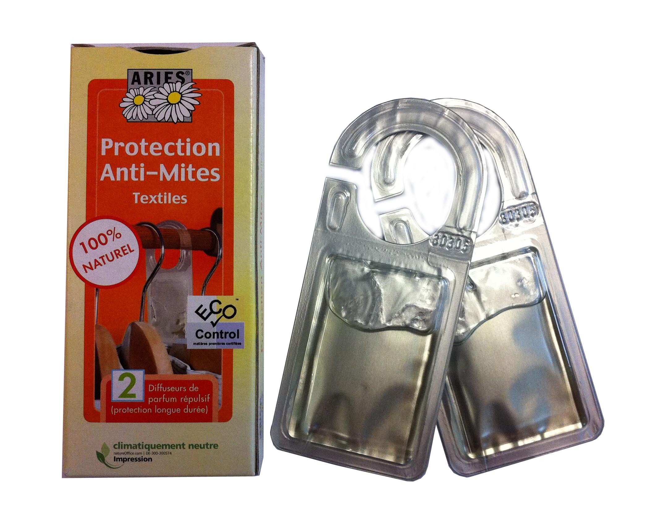 protection anti mites textiles 2 diffuseurs de r pulsif insecticides naturels droguerie. Black Bedroom Furniture Sets. Home Design Ideas