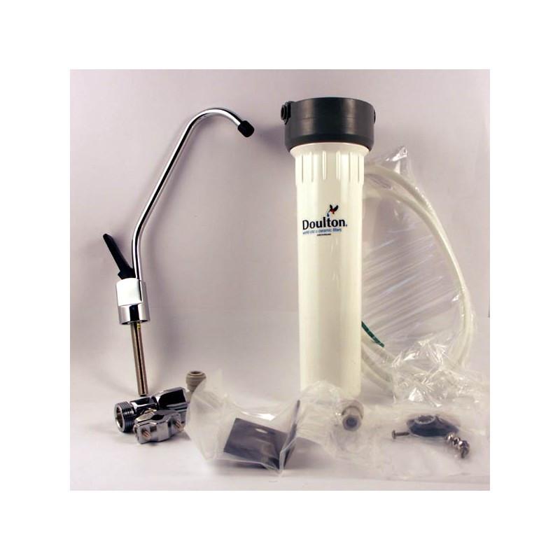 filtre eau sur vier hcp blanc doulton osmoseurs filtres eau filtration de l 39 eau. Black Bedroom Furniture Sets. Home Design Ideas