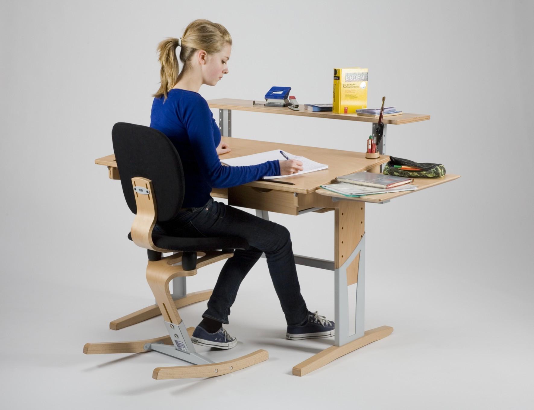 Bureau enfant volutif avec accessoirs moizi17 ergonomie - Siege de bureau enfant ...