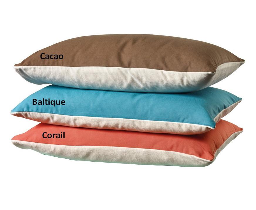 taie d 39 oreiller coton bio bleu baltique linge de lit. Black Bedroom Furniture Sets. Home Design Ideas