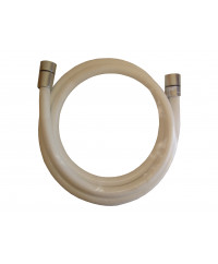 Flexible de douche blanc 150cm anti-torsion