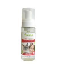 Shampooing naturel chat crème de mousse : protection tiques et puces 150ml VERLINA