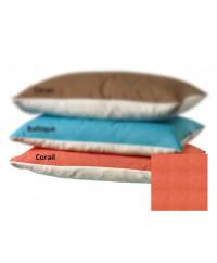Taie d'oreiller coton BIO Rouge corail