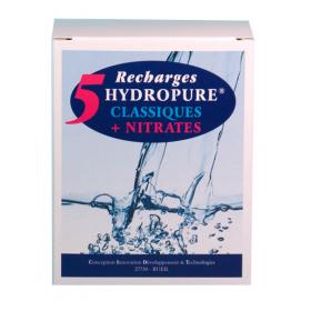 Recharges classiques et nitrates cartouche ronde ou ovale 125ml lot de 5 HYDROPURE