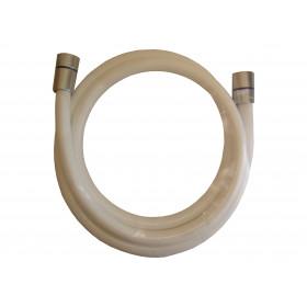 Flexible de douche blanc 150cm anti-torsion