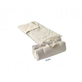 Futon bébé et couette coton bio souris 60x120cm