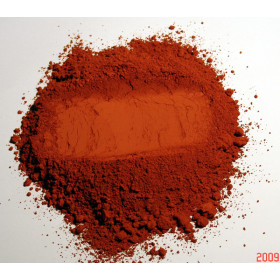 Pigment naturel pour peinture Ocre Rouge à partir de 250g