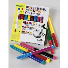 Feutres magiques: 9 couleurs + 1 effaceur
