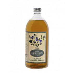 Savon de Marseille écologique recharge liquide à l'huile d'olive parfum violette 1L MARIUS FABRE