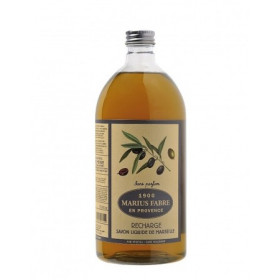 Savon de Marseille écologique recharge liquide à l'huile d'olive 1L MARIUS FABRE