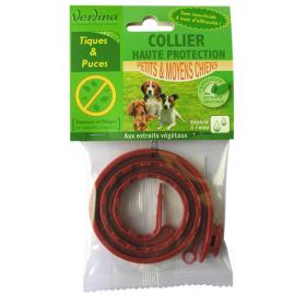 Collier anti-tiques et puces chien origine végétale réglable: 25 à 60cm VERLINA