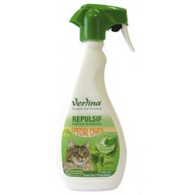 Répulsif chats intérieur et extérieur origine végétale en spray 500ml VERLINA