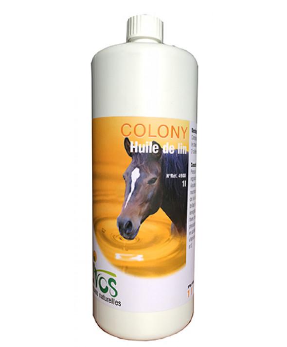 Huile de lin pure cheval LIVOS 1L