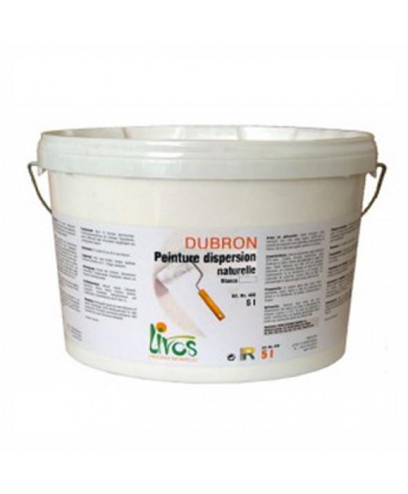 Peinture naturelle, mate, blanche, murs et plafonds intérieur Dubron (1L/8m2) Livos
