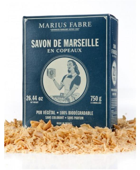 Savon de Marseille écologique en copeaux aux huiles végétales 750g MARIUS FABRE