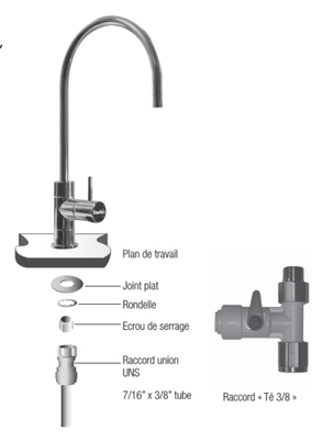 robinet pour filtre eau hip