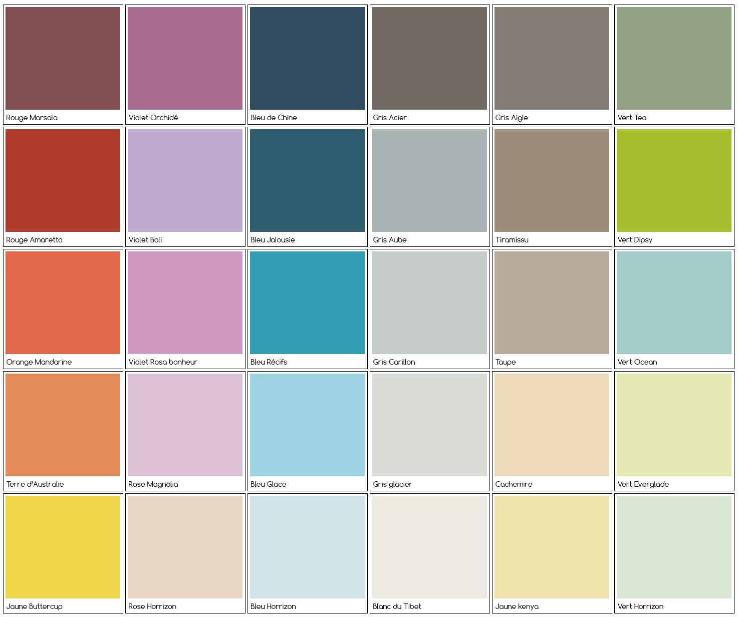 peinture naturelles couleurs
