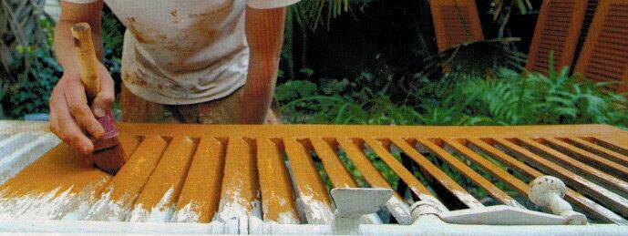 Peinture pour bois avec pigment naturel