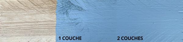 peinture bois bleu charrette
