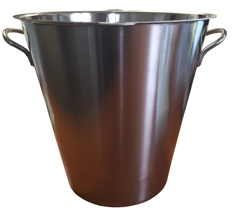 Seau inox pour toilette seche