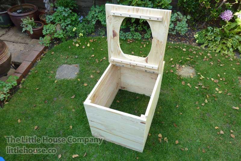 Toilette seche privy separett-structure ouverte