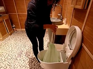 toilette sèche à compost - compost