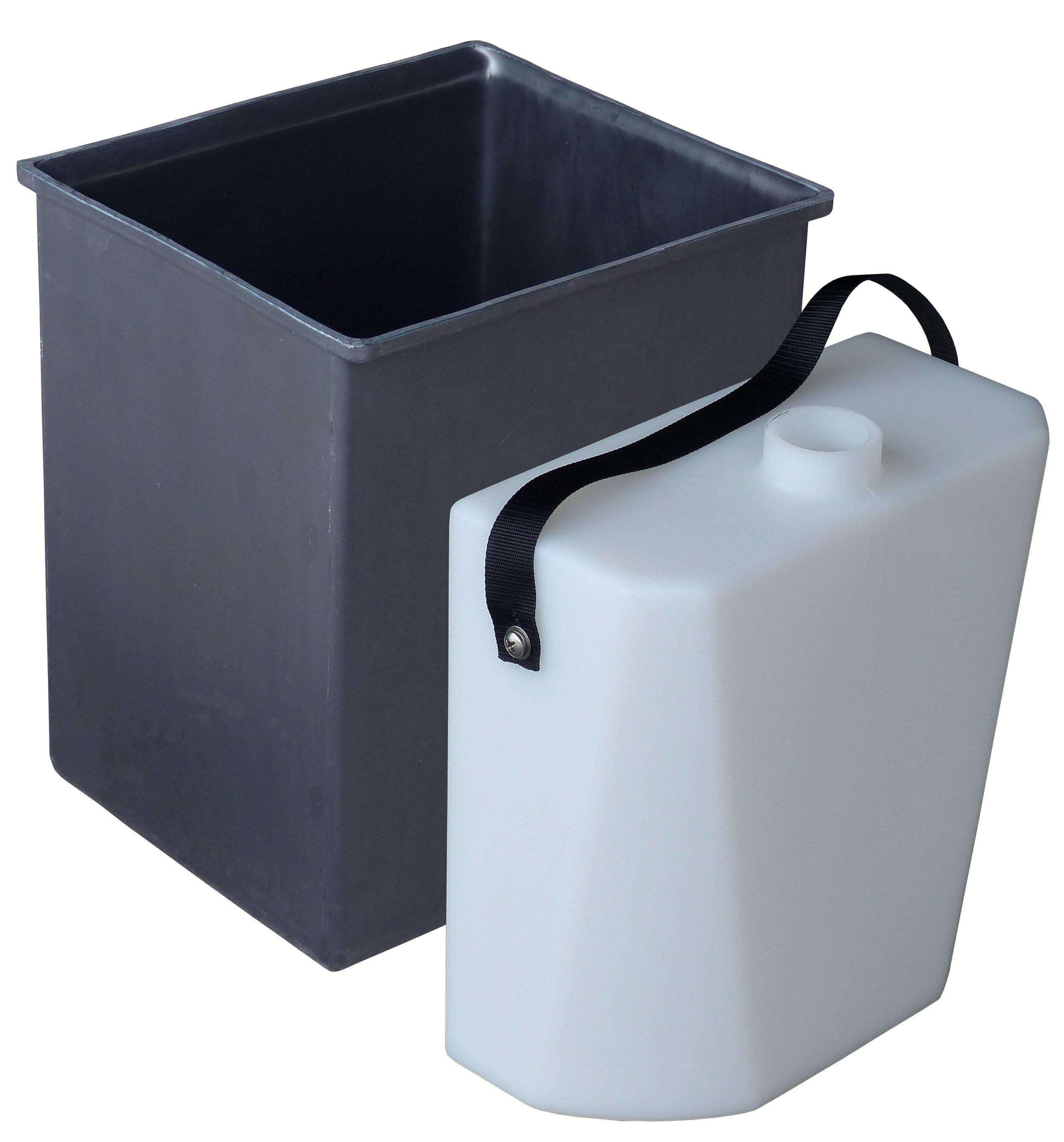 bac et réservoir urine