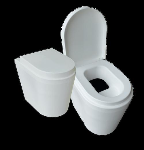 toilette sèche avec réservoir urine