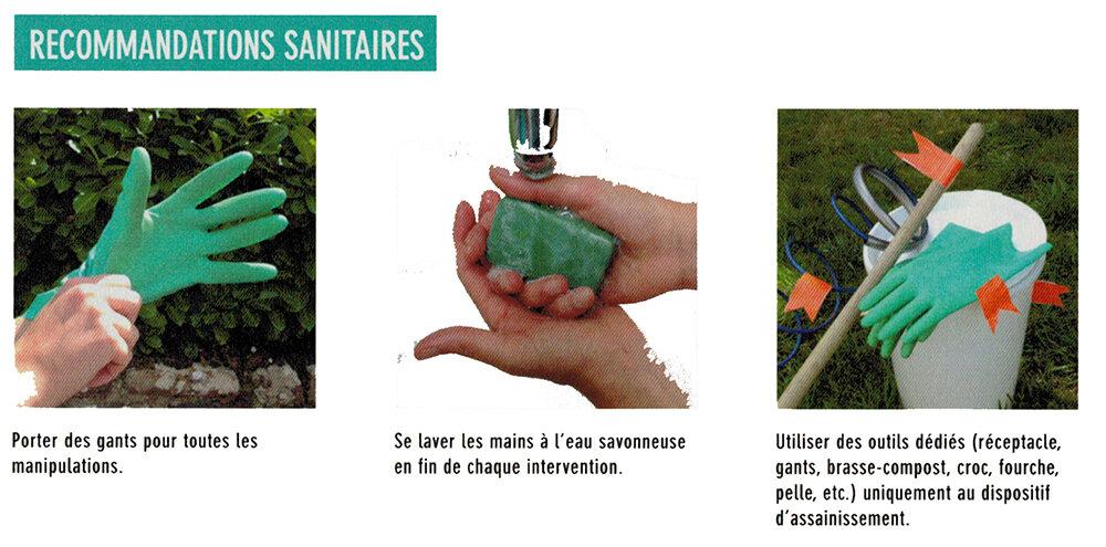 toilette sèche à compost: vidange du seau