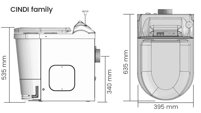 toilette sèche à incinération schéma
